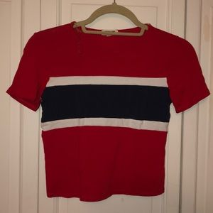 Charlotte Russe Red white and blue t shirt